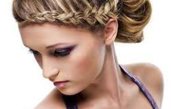 Прическа для волос средней длины
