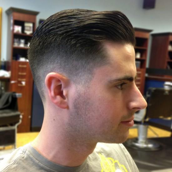 Layered mens haircut