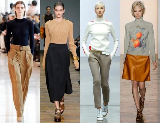 Модная женская одежда - джемперы и брюки