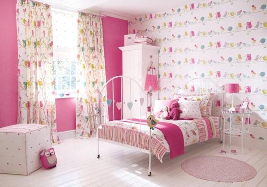Как правильно выбрать обои для детской комнаты, в которой живет девочка