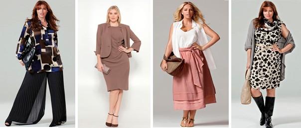 Основные правила удачного сочетания женской одежды больших размеров