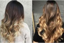 Омбре на средние волосы