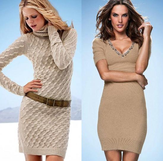 Вязанные платья – новый тренд 2018 года