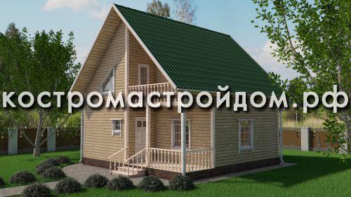 Брусовый дом 8 х 8 – значительное пространство и надежность